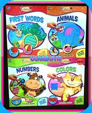 New Lot PRESCHOOL Laminated Wipe-Clean Reusable Homeschool Workbooks Ages 3 & Up