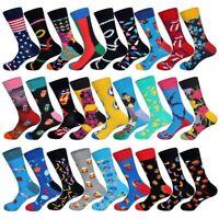 New Colorful Men Art Foods Animals Hyperbole Designer Long Cotton Unisex Socks