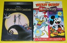 Disney DVD Lot - The Nightmare Before Christmas (New) Mickey Mouse Merry & Scary