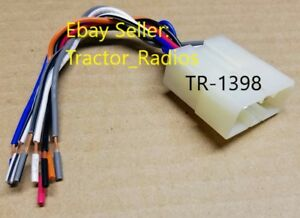 Tractor Radio Stereo Wire Harness Plug Loader Excavator CD Player Stereo TR-1398