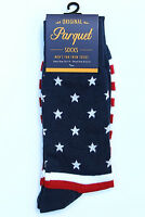 US Flag Men's Socks Novelty American Patriotic Casual Fashion Red Blue Sock