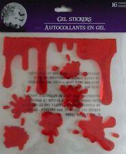 Halloween Bloody Gel Window Cling Stickers ~ Dripping & Splatter