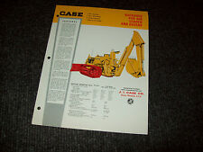 CASE BACKHOES FOR 450 LOADERS AND DOZERS CONSTRUCTION BROCHURE LITERATURE AD