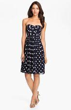 Jenny Yoo Strapless Polka Dot Convertible Chiffon Dress (size 10)