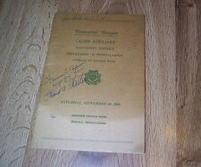 Ladies Auxiliary Veterans Of Foreign War Banquet Program 1960   Dorothy Turner