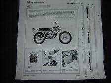 1971 1972 Honda SL70 Set up Instructions LOOK SL 70