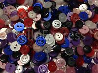 Various Small Buttons Mix Sizes & Weights - Bags Assorted Colours 10mm 12mm