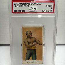 1909-1910 E75 American Caramel Boxing Joe Walcott PSA 2 Good