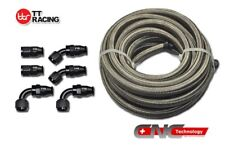 -8AN AN8 Stainless Steel PTFE Fuel Line 12FT Teflon Fitting Hose End Kit E85