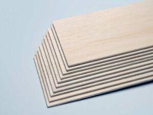 Jamara Balsabrett 100x1000 mm Dicke 10 mm Balsaholz Holzplatte Holzbrett 1 Stück