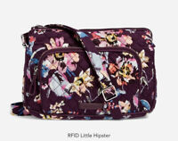 Vera Bradley Iconic RFID Little Hipster Bag Indiana Rose NWT $60 Crossbody