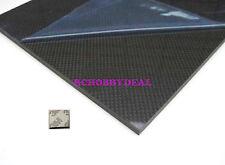 340×410×2.0mm W/100% Carbon Fiber plate panel sheet 3K plain weave gloss 3M