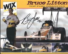 "2001 Bruce Litton signed Wix Filters ""2nd issued"" Top Fuel IHRA postcard"
