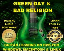 Green Day Guitar TAB Lesson CD 1349 TABS 114 Backing Tracks + BONUS Bad Religion