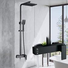 Schwarz Duschset Duscharmatur Regendusche Duschgarnitur Handbrause Mischbatterie