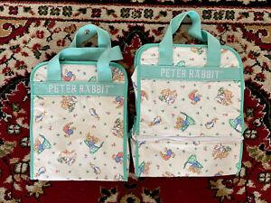 VTG Peter Rabbit Beatrix Potter Enfamil Mint Green Unisex Baby Diaper Tote Bags
