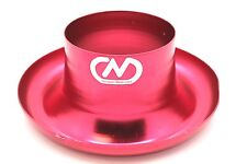 """Air Inlet Polished Alloy Ram Pipe Air Inlet Intake Funnel Duct - 76mm (3"""") Red"""