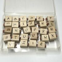 Stampin' Up! Upper And Lower Case Alphabet Two-Sided Rubber Stamps Made In USA