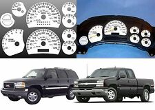 White Face Overlay Gauge Cluster For 2003-2006 GM Trucks New Free Shipping USA