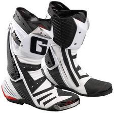 Stivali caviglia regolabili bianchi per motociclista
