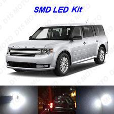 12 x White LED Interior Bulbs + Reverse + Tag Lights For 2009-2015 Ford Flex