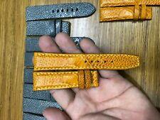 TAN BROWN Genuine OSTRICH Leg LEATHER SKIN WATCH STRAP BAND 21mm