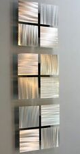 Statements2000 Metal Wall Art Silver Modern Accent Decor Jon Allen 3 of a Kind