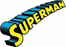 Superman Logo Text Vinyl Sticker Wall Car Laptop Superhero Comic Book