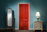 Door Mural Front door Red View Wall Stickers Decal Wallpaper 311