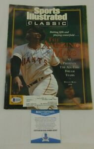 Willie Mays Signed Sports Illustrated Cover 1992 MLB HOF SF Giants BAS COA