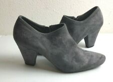 PRADA Suede GRAY Ankle Booties 36/6  ~ EUC