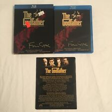 The Godfather Trilogy Collection Coppola Restoration Blu-Ray Set Used Free Ship