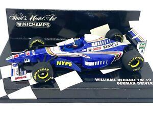 1:43 scale Minichamps Williams FW19 F1 Car - H Frentzen 1997 Diecast Model