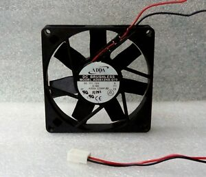 ADDA 80mm x 15mm Slim CPU Fan 3 Pin Connector 80x15mm AD0812HB-D70