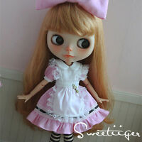 "【Tii】alice dress outfit 12"" 1/6 doll Blythe/Pullip/azone Clothes Handmade girl"