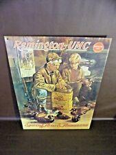 Vintage Remington-UMC Sporting Arms & Ammunition Embossed Tin Sign