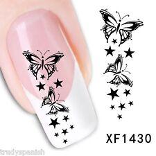 Art Pour Les Ongles Décalco À L'eau Transferts Papillon Papillons étoiles UV