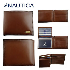 Nautica Men's Crunch Passcase Wallet with Removable Card ID Holder