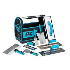 Ox Plasterers Complete Starer Hand Tool Kit Set Tote Bag Plastering Trowels