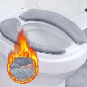 Toilet Mat Plush Soft Toilet Seat Cover Bathroom Toilet Cushion Warm WashableMat