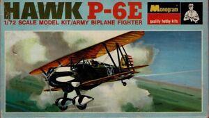 1/72 MONOGRAM PA208; Curtiss P-6E HAWK US ARMY Biplane Fighter