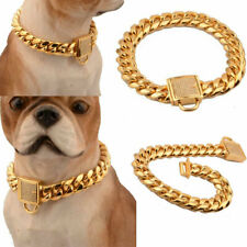 Strong Metal Dog Collar Pet Training Chain Collar for Large Dog Pitbull Bulldog