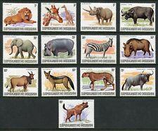 BURUNDI SCOTT#589/601 ANIMALS MINT HINGED SCOTT VALUE