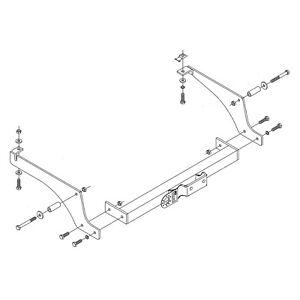PCT Towbar for Toyota ProAce Van 2013-2016 - Flange Tow Bar
