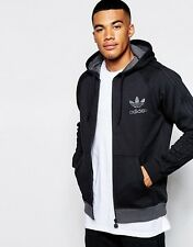 Adidas Black And Grey Zip Up Hoody Size L Activewear Men's Clothing