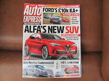 Auto Express Magazine 23-29 November 2016. Alfa's new SUV, MG's Juke  UK P&Pinc