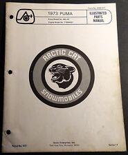 1973 ARCTIC CAT SNOWMOBILE PUMA PARTS MANUAL P/N 0185-017   (049)
