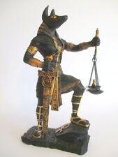 Anubis Waagschalen Schwert Ägypten Poly Figur 25 cm Egypt s/gold