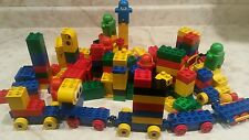 BUILDING BRICK BLOCKS 150 PC AGE 5-9 WITH TRAIN CARS AND PEOPLE SANITIZED FUN!