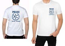 Israel Police T Shirt Dry Fit Short Sleeve White Shirts Policemen Mens Man Cop